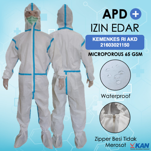 Foto Produk [IZIN EDAR] APD HAZMAT MICROPOROUS - Full Seam Seal - Standar ICU - APD Saja dari N7workwear