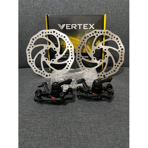 Foto Produk Kaliper sepeda set dengan piringan rotor vertex dari Ronnyjayabikeshop