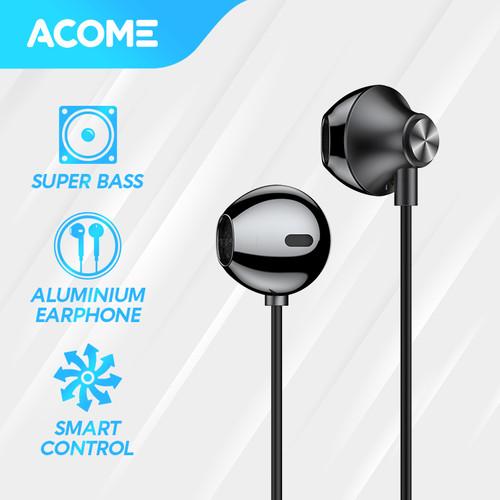 Foto Produk ACOME Wired Earphone Semi In Ear Headset Super Bass AW05 Garansi Resmi - Black dari Acome Indonesia