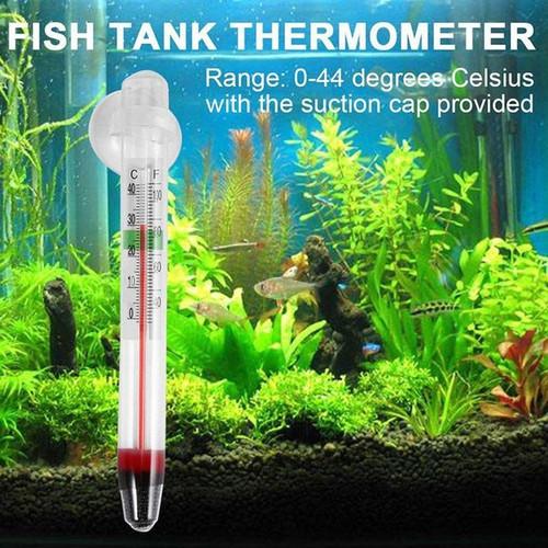 Foto Produk Termometer Pengukur Suhu Air Tempel Kaca Aquarium ikan aquascape dari lbagstore