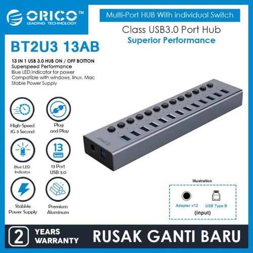 Foto Produk ORICO BT2U3-13AB 13 port USB Hub With Individual Switches dari manekistore
