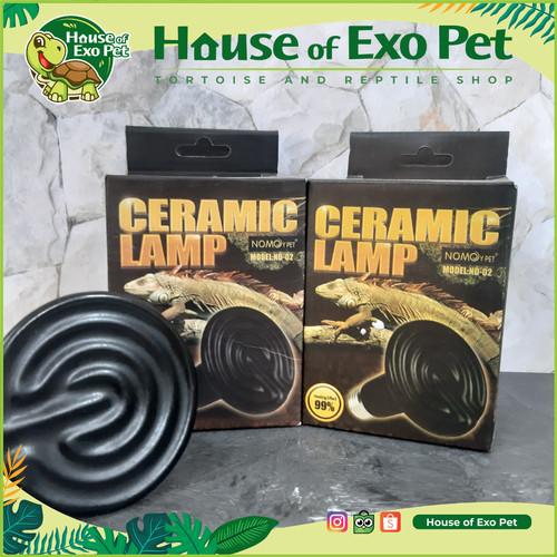 Foto Produk Nomoy Ceramic Heater ND 02 / Lampu Ceramic infrared Reptil - 25 watt dari House of Exo Pet