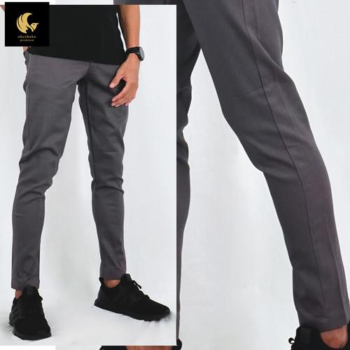 Foto Produk Okechuku JAY Celana Chino Panjang Pria Celana Chino Pria Celana Pria - Abu, Size 28 dari Okechuku
