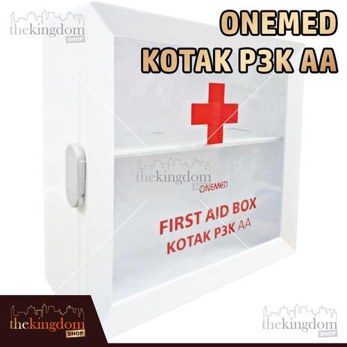 Foto Produk OneMed Kotak P3K AA Rak Dinding Gantung Obat First Aid Kit Hanger - Kotak P3K AA, Packing Plastik dari The Kingdom Shop