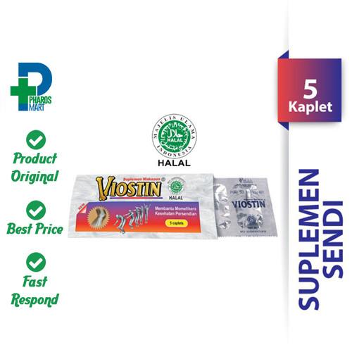 Foto Produk Viostin Halal 1 Strip @ 5 Kaplet Supplemen Meredakan Nyeri Sendi dari Pharos Official Store