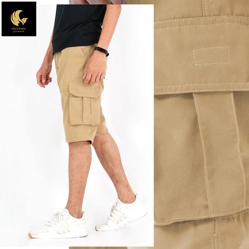 Foto Produk Okechuku CHARLES Celana Pendek Pria Katun Celana Santai Pria Shortpant - Krem, 34 dari Okechuku