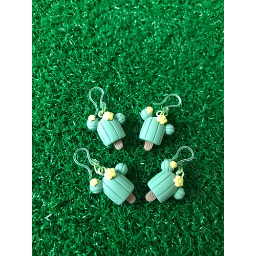 Foto Produk Anting Resin Green Cactus Ice cream stick Handmade kait plastik dari Rita Handycraft