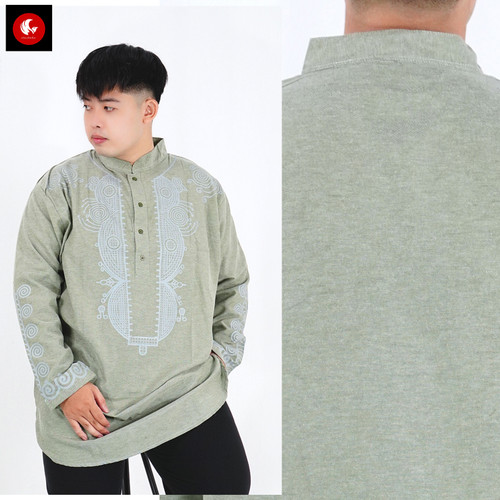 Foto Produk Okechuku ANIS BIG Baju Koko Kurta BIGSIZE Kurta Pakistan Jumbo Pria - Hijau dari Okechuku