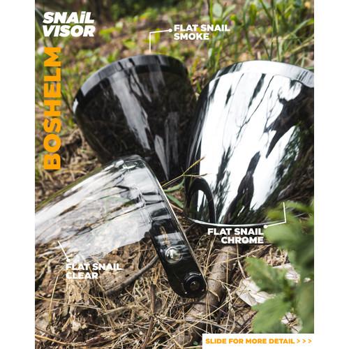 Foto Produk Kaca Snail Flat Snail Visor Model Bogo Snail Visor Chrome - Clear dari BOSHELM
