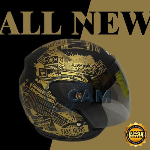 Foto Produk Helm evolution koran black doff gold dari Boss helm