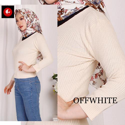 Foto Produk Okechuku RUTH Knit Outer Sweater Rajut Lengan Panjang Fashion Wanita - Putih dari Okechuku