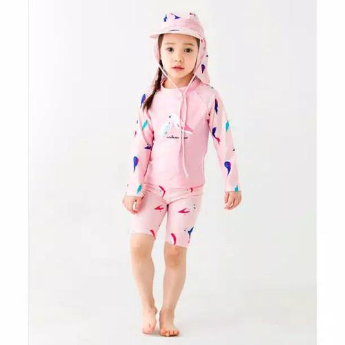 Foto Produk Baju Renang Anak Cewek Bird Pink Set Tanpa TopiSwimwear Fashion Import - 10 dari hamhampyo