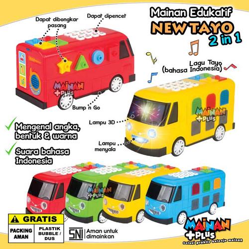 Foto Produk Mainan Edukasi Balita Mobil mobilan Edukatif Bus New Tayo 2 in 1 SNI - Kuning dari MainanPlus