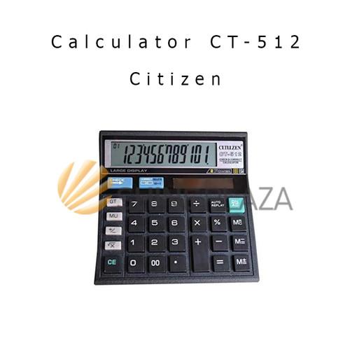 Foto Produk Calculator Pasar Citizen 12 Digit CT-512 - Kalkulator Citizen dari Shine Plaza