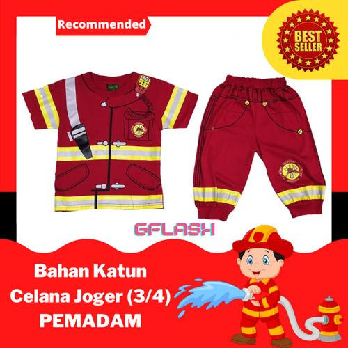 Foto Produk Baju Profesi Anak PEMADAM Setelan Kaos Joger - 12 dari Gflash Kaos