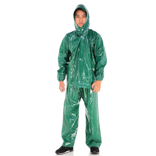 Foto Produk Jas Hujan Jaket Celana Plevia Opus XL 1812 Karet (TEBAL) High Quality - Hijau dari Langit Biru