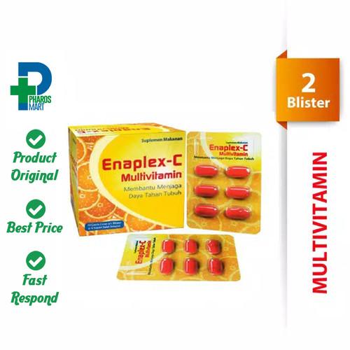 Foto Produk Enaplex-C Vitamin C & B Complex Jaga Daya Tahan Tubuh 2 Blister@6 Kap dari Pharos Official Store