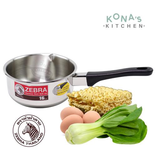 Foto Produk Zebra Sauce Pan 16 Cm (166307) / Panci Susu Stainless Steel dari Kona's Kitchen