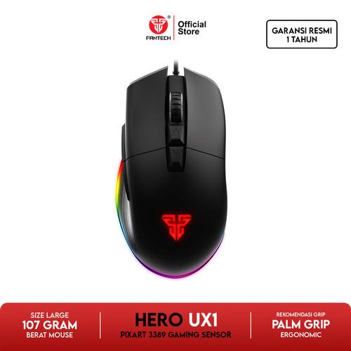 Foto Produk Fantech UX1 HERO Ultimate Gaming Mouse PIXART 3389 Sensor dari Fantech Official Store