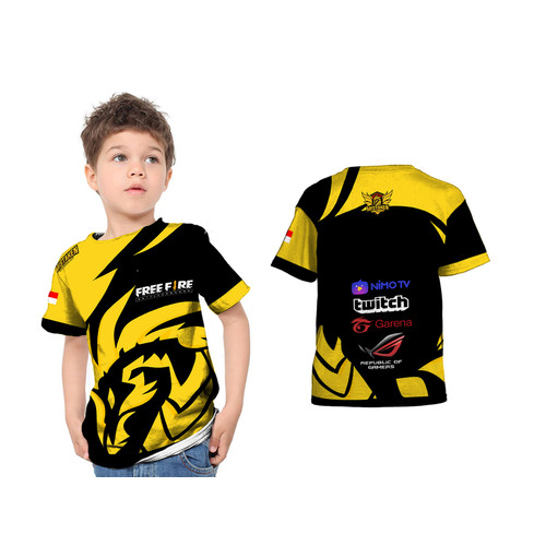 Foto Produk Kaos Baju Tshirt Anak Jersey Gaming Mistaken Game Free fire Fullprint - S dari HDCustom