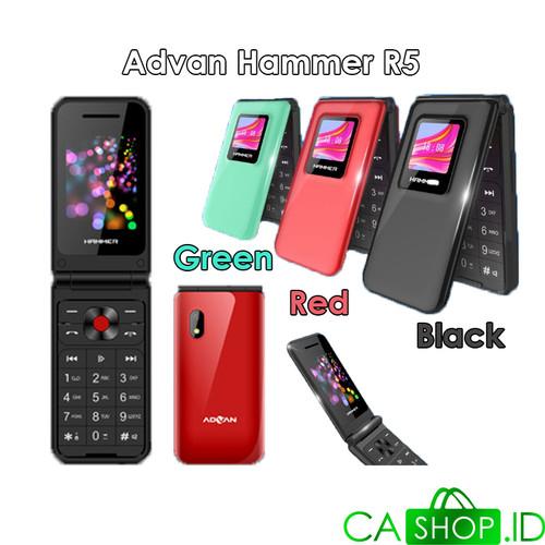 Foto Produk Advan Hammer R5 - HP Lipat / Flip Phone - New Original Garansi Resmi - Black dari CA Shop