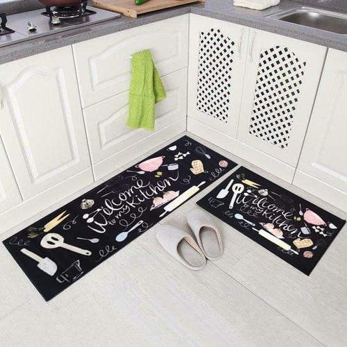 Foto Produk Keset Alas Lantai Rumah Dapur Anti Selip - 2 in 1 Kitchen Floor Mat - Kotak2 dari botolbotak