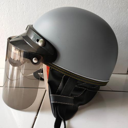 Foto Produk helm retro chips kaca datar - Abu-abu dari AnnisaHelm