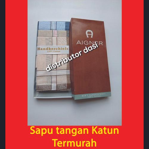 Foto Produk Saputangan Pria Sapu Tangan Katun Handkerchief ISI 12 Tua dan Muda dari Distributor Dasi