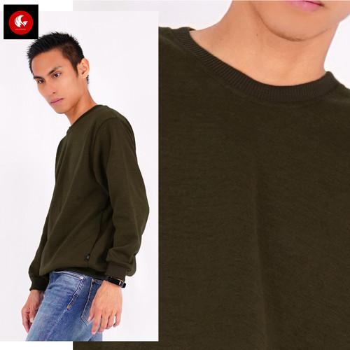 Foto Produk Okechuku MARK Sweater Pria Switer Pria Sweater Polos Switer Roundneck - Hijau dari Okechuku