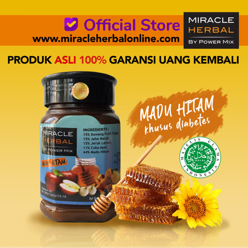 Foto Produk MIRACLE HERBAL 400ML MADU HITAM dari Miracle Herbal Official