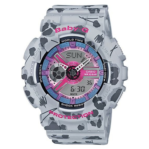 Foto Produk Jam Tangan Wanita Casio Baby-G Flower Leopard Series BA-110FL-8ADR dari Luxolite SG Timepieces