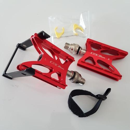 Foto Produk pedal kickstand GT standing standar samping 3 bearing loncer banget - RED standblack dari Ulago Bikes