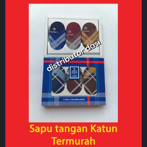 Foto Produk Saputangan Pria Sapu Tangan Katun Handkerchief Isi 6 Gelap dan Terang dari Distributor Dasi