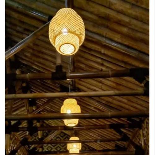 Jual Lampu Lampion Bambu Lampu Hias Gantung Unik Kab Banyumas Toko Echa Pwt Tokopedia
