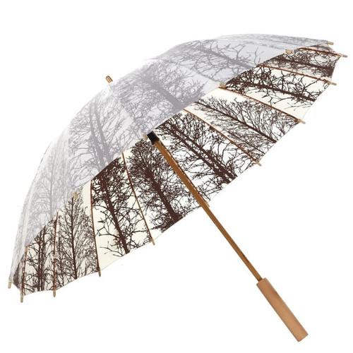 Foto Produk Payung Panjang Gagang kayu Motif Shanghai - Putih dari Langit Biru