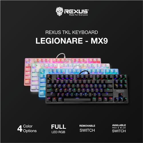 Foto Produk Rexus MX9 TKL Keyboard Gaming Mechanical Legionare MX9 TKL RGB - Hitam, Red Switch dari Trinity Plaza
