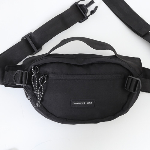 Foto Produk Wanderlust Waistbag Fannypack Sling Tas Selempang Little Paris Black dari Wanderlustbag Official