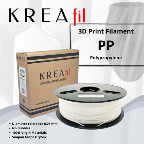 Foto Produk KREAfil® Polypropylene (PP) 3D Print Filament – Natural – 1.75 mm dari Kreafil