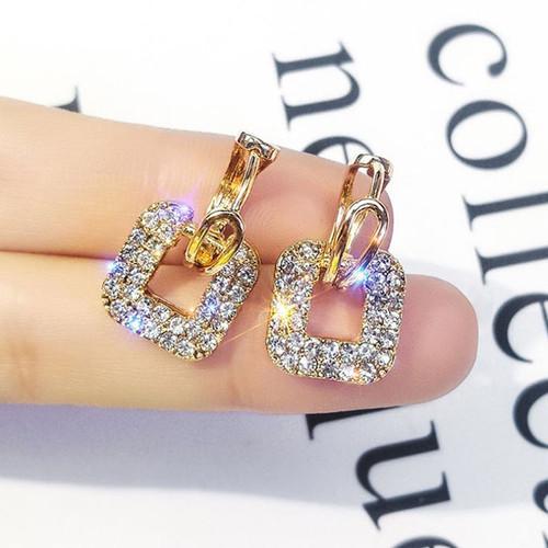 Foto Produk anting fashion square full diamond earrings jan220 dari Oila
