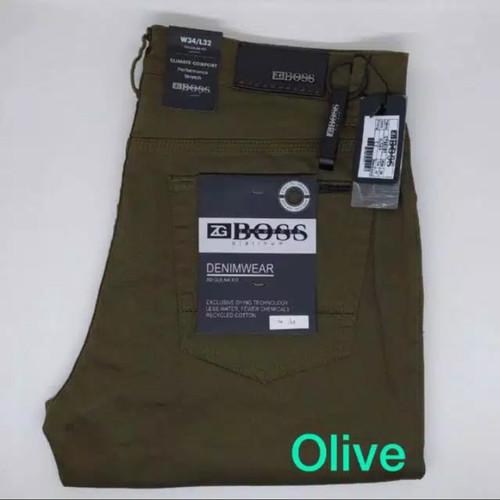 Foto Produk Celana Pria Standard ZG BOSS Katun Stretch OLIVE - Regular Fit - 29 dari TheTokoDenim