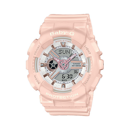 Foto Produk Jam Tangan Wanita Casio Baby-G Digital Analog Soft Pink BA-110RG-4ADR dari Luxolite SG Timepieces