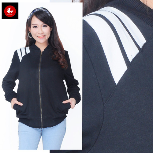 Foto Produk JAKET BRIYANA Okechuku Jacket Unisex Jumper Pocket Training Fashion - Hitam, M fit to L dari Okechuku