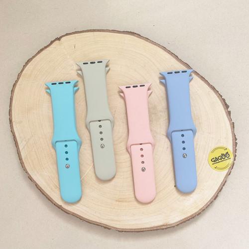 Foto Produk Silicone Strap Apple Watch - Tali Jam Smart Watch 42/44mm/S - Putih dari Gagoo Official Store