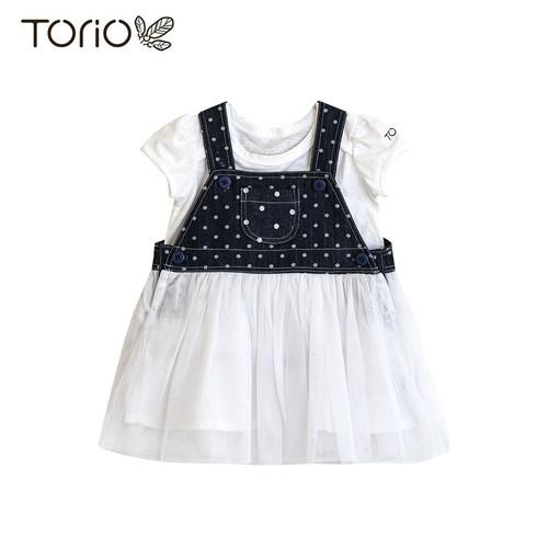 Foto Produk Torio Jumper Set Fancy Denim - Baju Setelan Jumper Anak Perempuan - 3-6 bulan dari Torio
