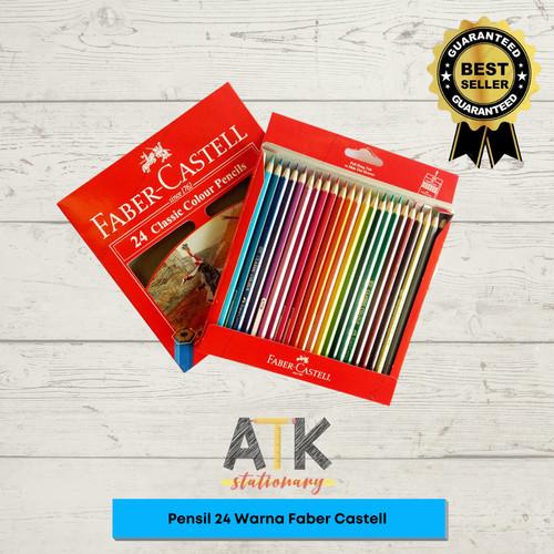 Foto Produk Pensil Warna Faber Castell Isi 24 Warna Panjang atk dari Atkstationary