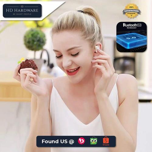 Foto Produk TWS4 Earphone Bluetooth Wireless 5.0 Stereo Headset Murah Berkualitas - Hitam dari HD Hardware