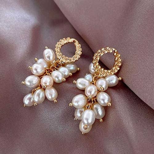 Foto Produk anting fashion natural pearl drop earrings jan221 dari Oila