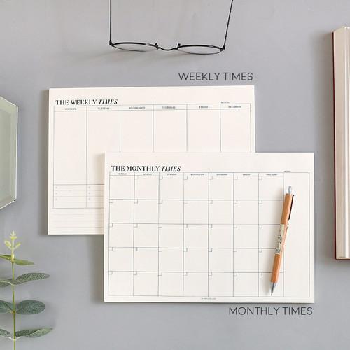 Foto Produk The Times Weekly Monthly Planner Memopad - Kertas Catatan - Memo - Weekly Times dari Pinkabulous