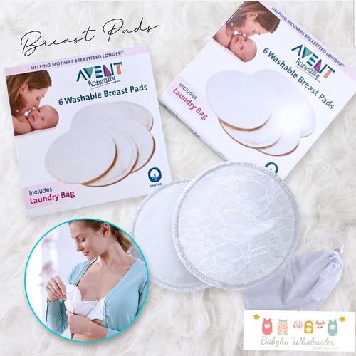 Foto Produk breast pad avent / washable breastpad avent dari BABYKU WHOLESALER
