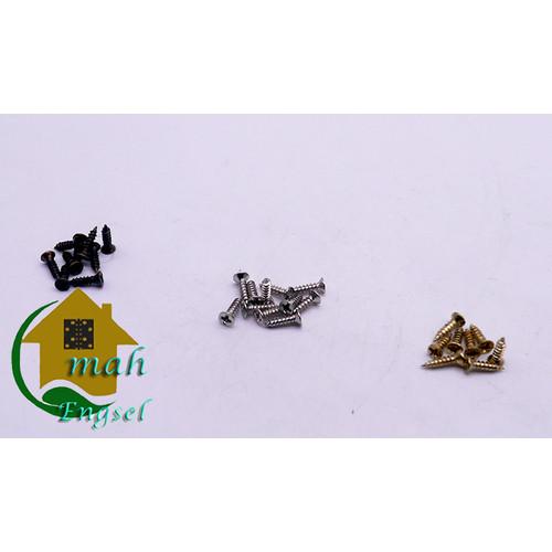 Foto Produk Sekrup mini murah skrup mini antik baut kepala 4 x 6 mm (harga 100 pc) - Gold emas dari Omah Engsel